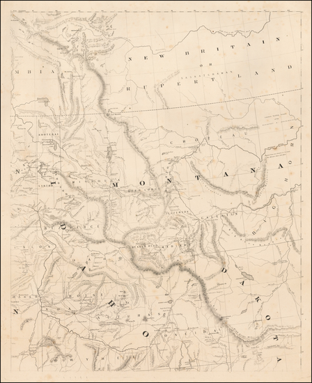 47-Idaho, Montana, Pacific Northwest, Oregon, Washington and British Columbia Map By H.H. Bancroft
