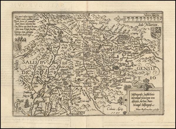 100-Austria Map By Matthias Quad / Johann Bussemachaer