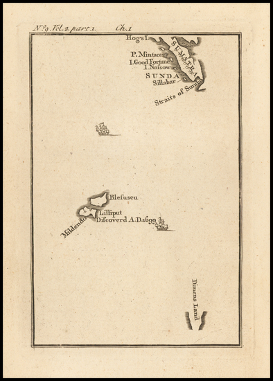 0-Indonesia, Other Islands and Curiosities Map By Jonathan Swift