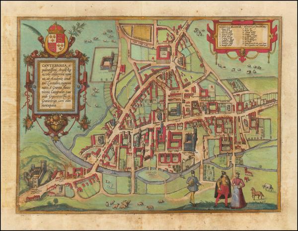 94-England Map By Georg Braun  &  Frans Hogenberg