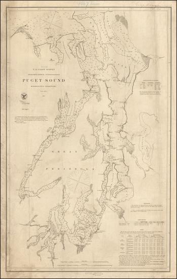 87-Washington Map By United States Coast Survey
