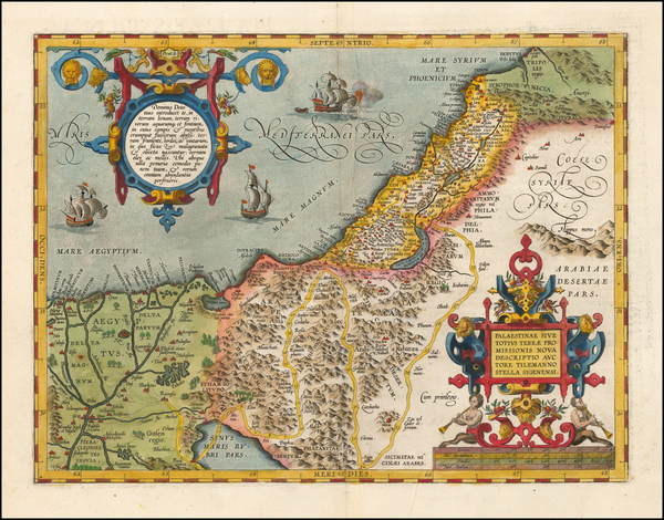 77-Holy Land Map By Abraham Ortelius