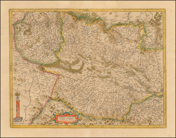 89-France and Germany Map By Henricus Hondius