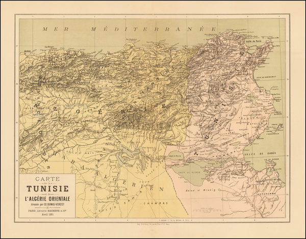 0-North Africa Map By Hachette & Co.