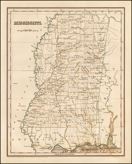 57-Alabama Map By Thomas Gamaliel Bradford