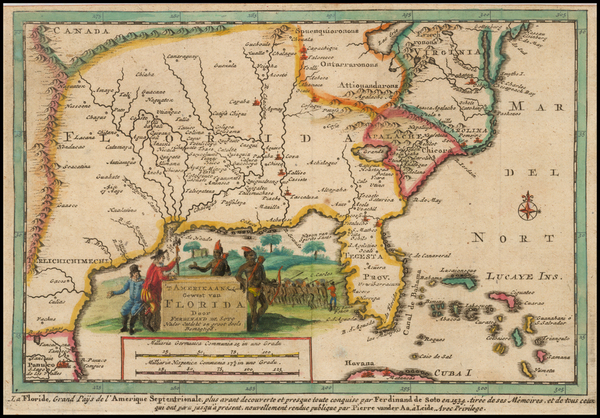 48-Florida, South and Southeast Map By Pieter van der Aa