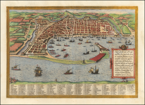 56-Other Italian Cities Map By Georg Braun  &  Frans Hogenberg