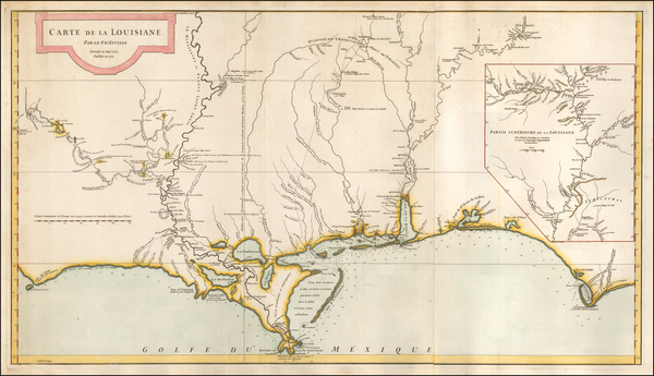 59-South, Louisiana, Alabama and Mississippi Map By Jean-Baptiste Bourguignon d'Anville