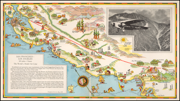 42-California and Pictorial Maps Map By Ruth Taylor White