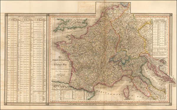 63-Switzerland, France, Germany and Northern Italy Map By William Faden