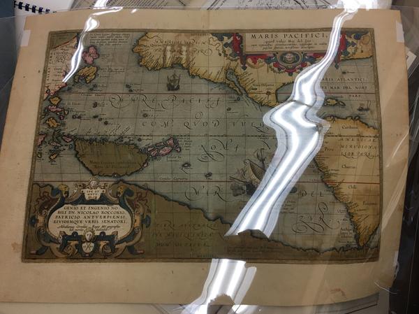 39-Western Hemisphere, Polar Maps, Japan, Pacific, Australia and America Map By Abraham Ortelius