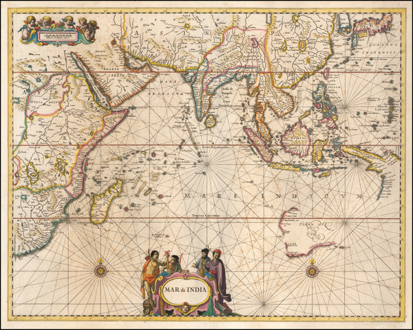 16-Indian Ocean, Asia, Southeast Asia and Australia Map By Jan Jansson