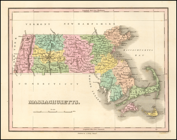 95-Massachusetts Map By Anthony Finley