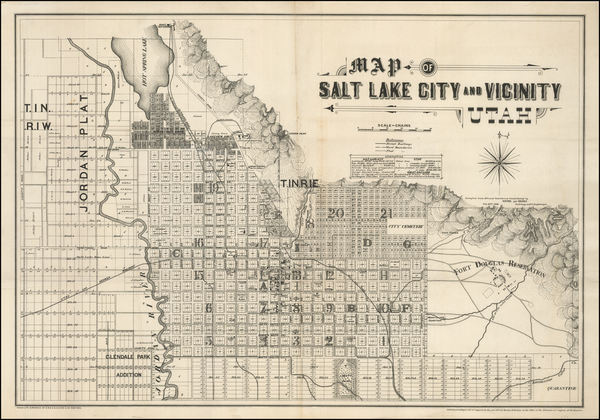 80-Utah and Utah Map By Browne & Brooks