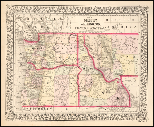 36-Plains and Rocky Mountains Map By Samuel Augustus Mitchell Jr.
