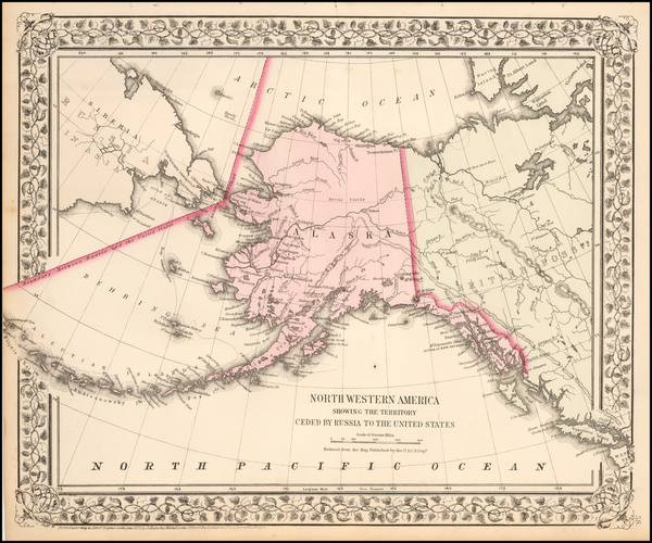 84-Alaska and Canada Map By Samuel Augustus Mitchell Jr.