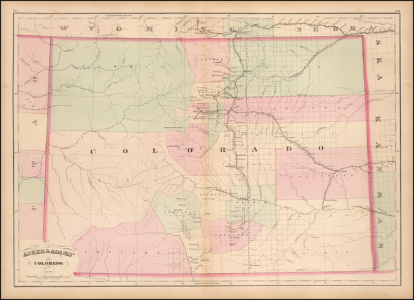 Colorado and Colorado Map By Asher  &  Adams