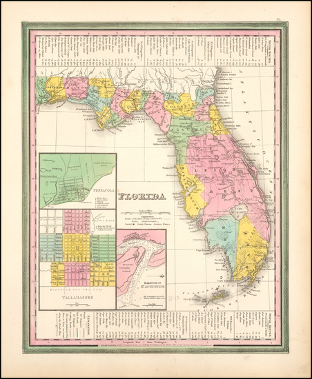 68-Florida Map By Henry Schenk Tanner