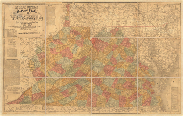 70-West Virginia, Virginia and Civil War Map By J.T. Lloyd
