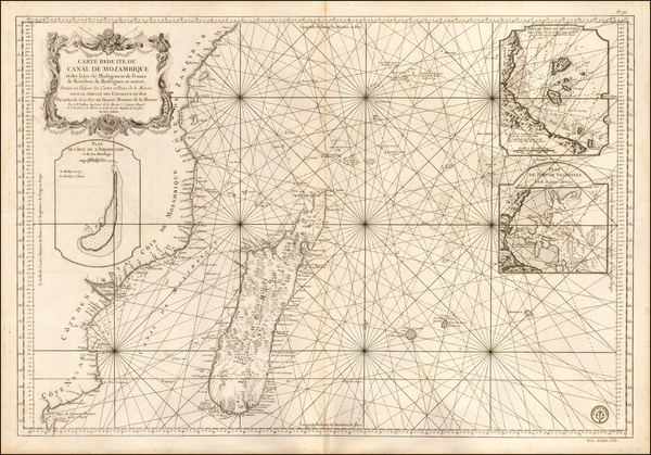 71-East Africa and African Islands, including Madagascar Map By Jacques Nicolas Bellin