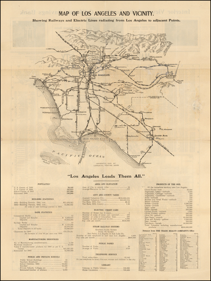 35-Los Angeles Map By Commercial Printing House