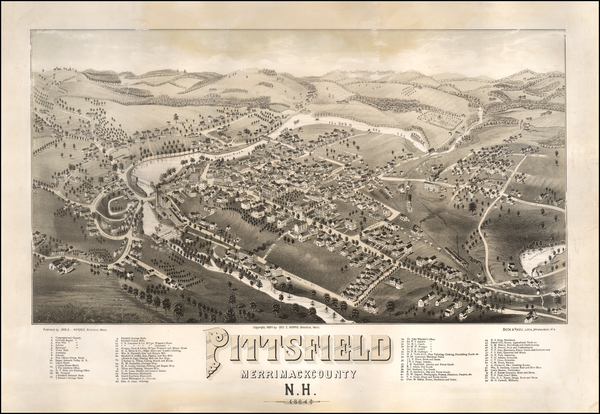 76-New Hampshire Map By Beck & Pauli / George E. Norris