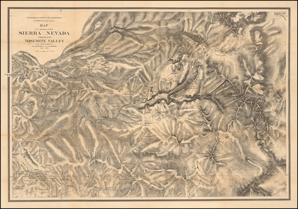57-California and Yosemite Map By J.P. Whitney