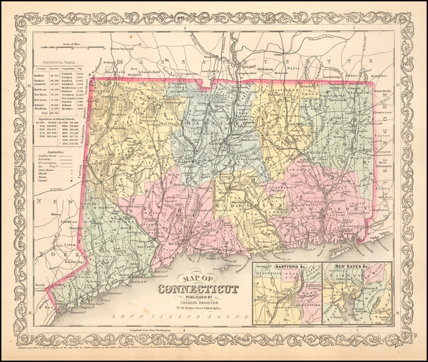 84-New England and Connecticut Map By Charles Desilver