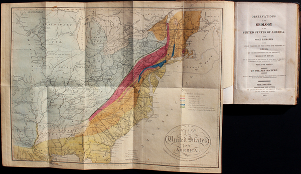 90-United States and Rare Books Map By John Melish