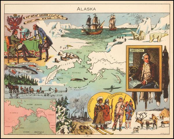2-Alaska Map By Joseph Porphyre Pinchon