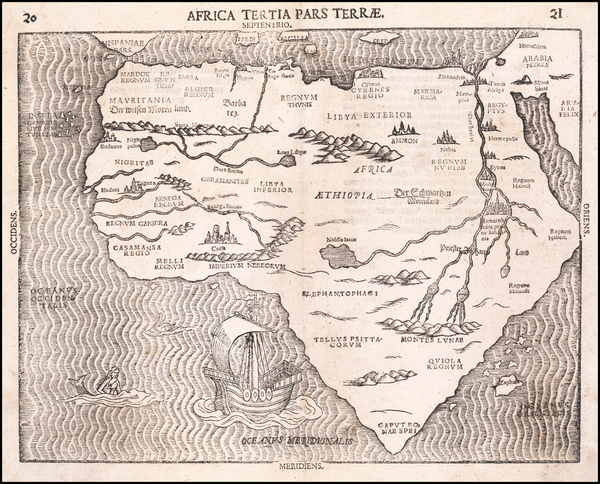 56-Africa Map By Heinrich Bunting