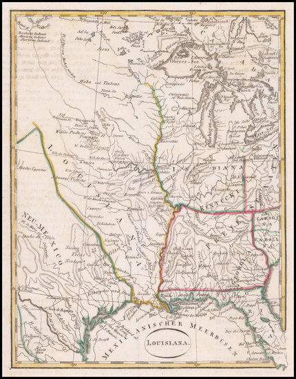 3-South, Louisiana, Texas, Midwest and Plains Map By T.F. Ehrmann