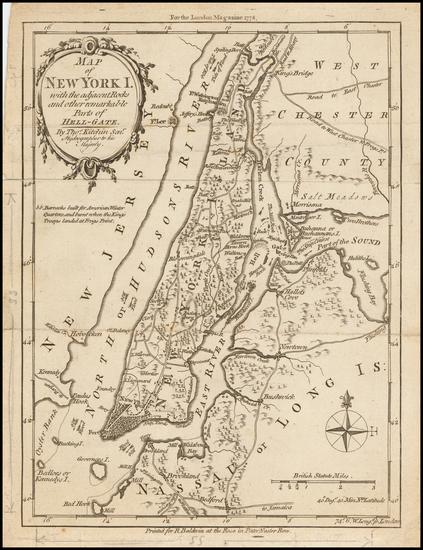 46-New York City and Mid-Atlantic Map By Thomas Kitchin
