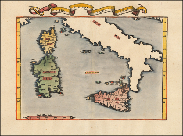 90-Corsica, Sardinia and Sicily Map By Lorenz Fries