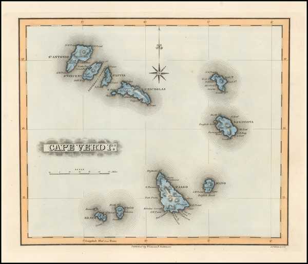 45-Atlantic Ocean and African Islands, including Madagascar Map By Fielding Lucas Jr.