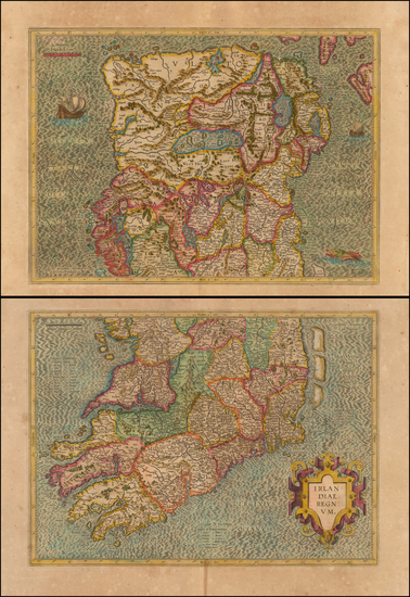 46-Ireland Map By Gerard Mercator