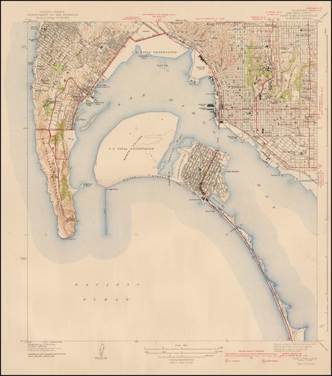 97-San Diego Map By U.S. Geological Survey