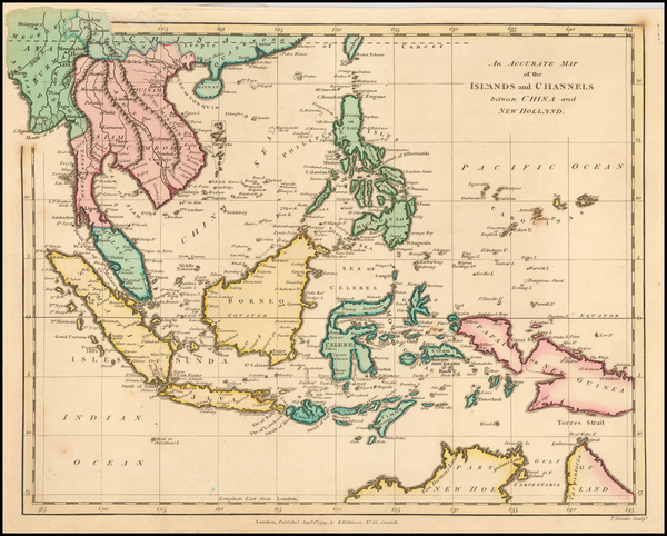 77-Southeast Asia, Philippines, Indonesia and Malaysia Map By Robert Wilkinson
