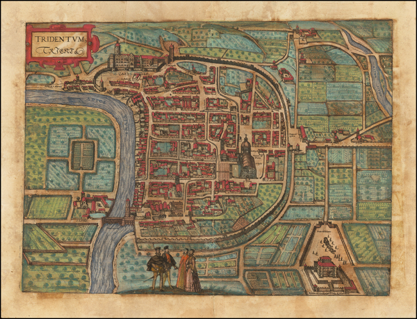 2-Other Italian Cities Map By Georg Braun  &  Frans Hogenberg
