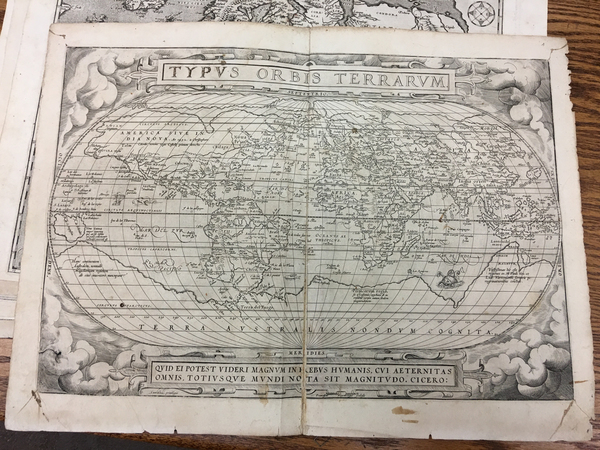 56-World Map By Abraham Ortelius