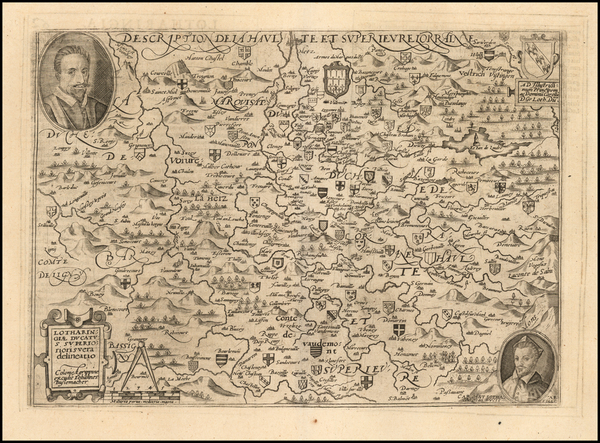 11-France Map By Matthias Quad  &  Johann Bussemachaer