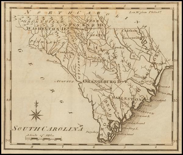 59-South Carolina Map By Joseph Scott