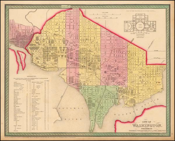 23-Mid-Atlantic, Washington, D.C. and Southeast Map By Thomas, Cowperthwait & Co.