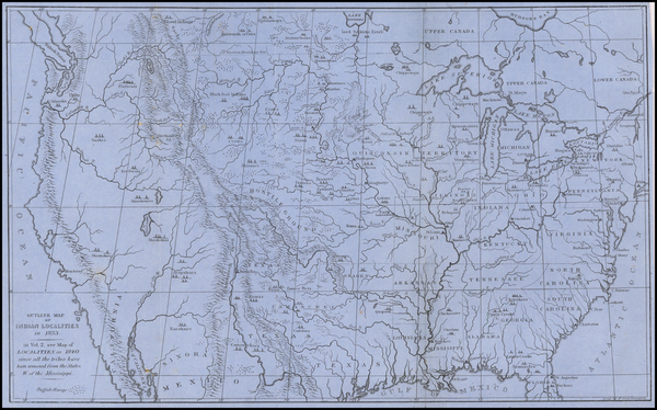 United States Map By George Catlin