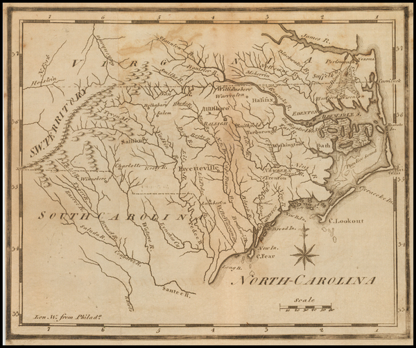40-North Carolina Map By Joseph Scott