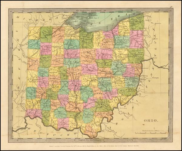 29-Ohio Map By David Hugh Burr