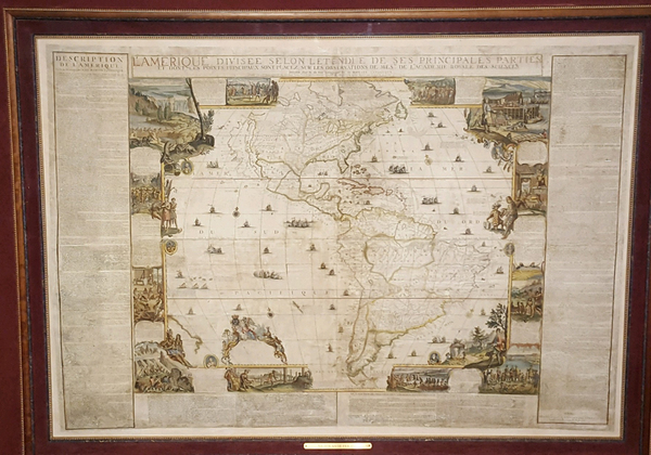 68-North America, South America and America Map By Nicolas de Fer