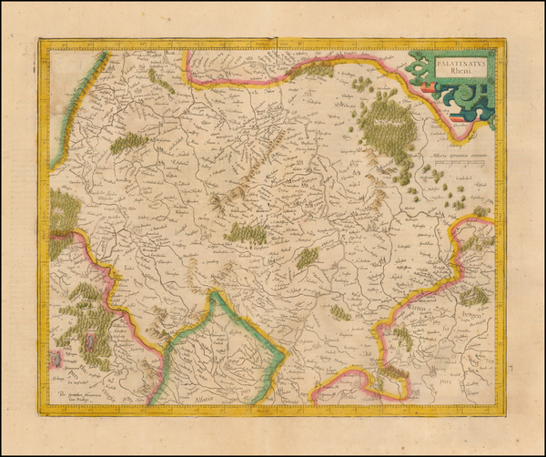 65-Germany Map By  Gerard Mercator