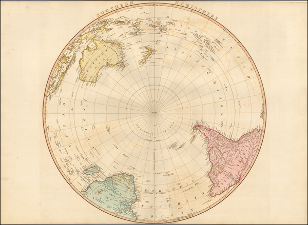 24-Southern Hemisphere and Polar Maps Map By William Faden