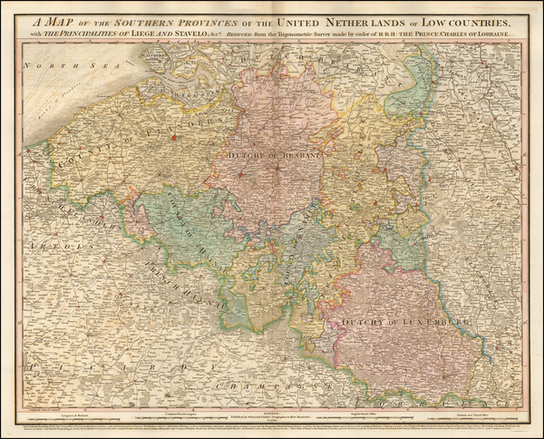 Belgium Map By William Faden